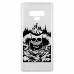 Чехол для Samsung Note 9 Skull with horns in the forest