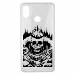 Чехол для Xiaomi Mi Max 3 Skull with horns in the forest