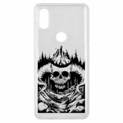 Чехол для Xiaomi Mi Mix 3 Skull with horns in the forest