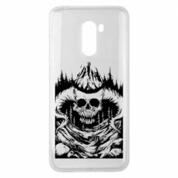 Чехол для Xiaomi Pocophone F1 Skull with horns in the forest