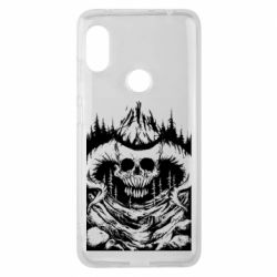 Чехол для Xiaomi Redmi Note 6 Pro Skull with horns in the forest