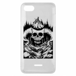 Чехол для Xiaomi Redmi 6A Skull with horns in the forest