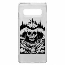 Чохол для Samsung S10+ Skull with horns in the forest