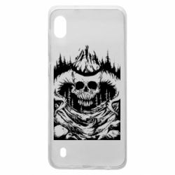 Чехол для Samsung A10 Skull with horns in the forest