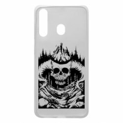Чохол для Samsung A60 Skull with horns in the forest