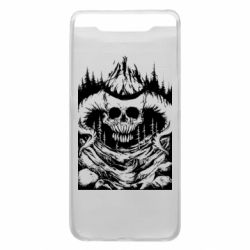 Чехол для Samsung A80 Skull with horns in the forest