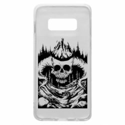 Чехол для Samsung S10e Skull with horns in the forest