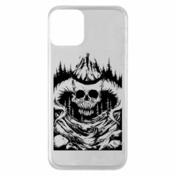 Чехол для iPhone 11 Skull with horns in the forest
