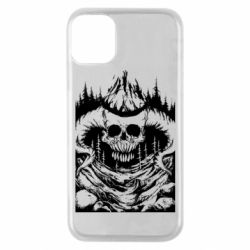 Чехол для iPhone 11 Pro Skull with horns in the forest