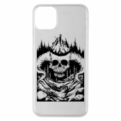 Чехол для iPhone 11 Pro Max Skull with horns in the forest