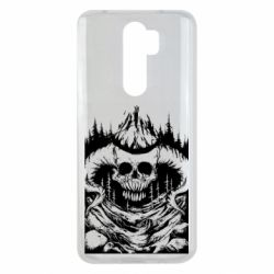 Чехол для Xiaomi Redmi Note 8 Pro Skull with horns in the forest