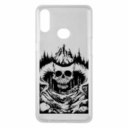 Чохол для Samsung A10s Skull with horns in the forest