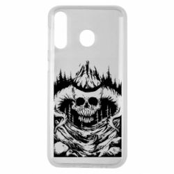 Чехол для Samsung M30 Skull with horns in the forest