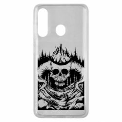 Чехол для Samsung M40 Skull with horns in the forest