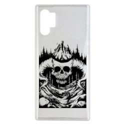 Чехол для Samsung Note 10 Plus Skull with horns in the forest