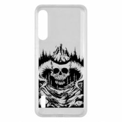 Чохол для Xiaomi Mi A3 Skull with horns in the forest