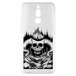 Чехол для Xiaomi Redmi 8 Skull with horns in the forest