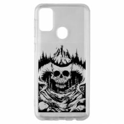Чохол для Samsung M30s Skull with horns in the forest