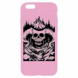 Чехол для iPhone 6 Plus/6S Plus Skull with horns in the forest