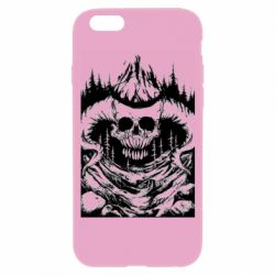 Чехол для iPhone 6/6S Skull with horns in the forest