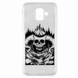 Чехол для Samsung A6 2018 Skull with horns in the forest