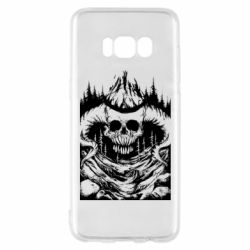 Чехол для Samsung S8 Skull with horns in the forest