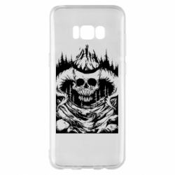 Чохол для Samsung S8+ Skull with horns in the forest