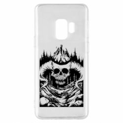 Чехол для Samsung S9 Skull with horns in the forest