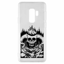 Чехол для Samsung S9+ Skull with horns in the forest