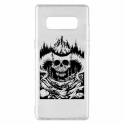 Чехол для Samsung Note 8 Skull with horns in the forest