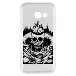 Чехол для Samsung A3 2017 Skull with horns in the forest