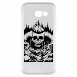 Чехол для Samsung A5 2017 Skull with horns in the forest