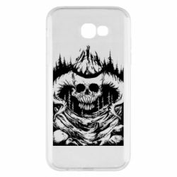 Чехол для Samsung A7 2017 Skull with horns in the forest