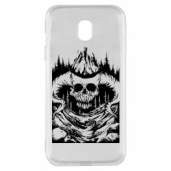 Чехол для Samsung J3 2017 Skull with horns in the forest