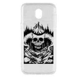 Чехол для Samsung J5 2017 Skull with horns in the forest