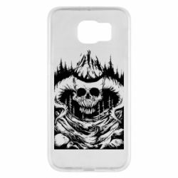 Чехол для Samsung S6 Skull with horns in the forest