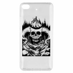 Чехол для Xiaomi Mi 5s Skull with horns in the forest