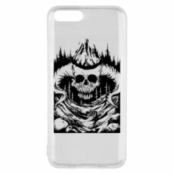 Чохол для Xiaomi Mi6 Skull with horns in the forest