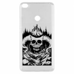 Чехол для Xiaomi Mi Max 2 Skull with horns in the forest