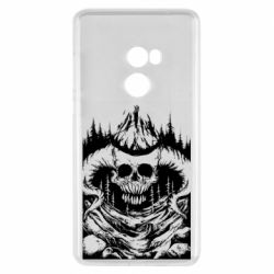 Чехол для Xiaomi Mi Mix 2 Skull with horns in the forest