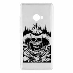 Чехол для Xiaomi Mi Note 2 Skull with horns in the forest