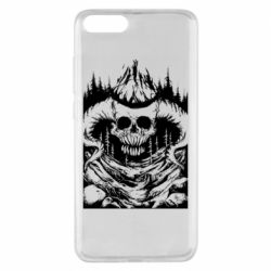 Чехол для Xiaomi Mi Note 3 Skull with horns in the forest