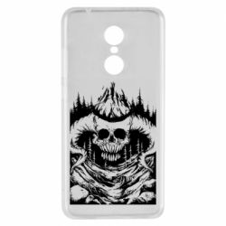 Чехол для Xiaomi Redmi 5 Skull with horns in the forest