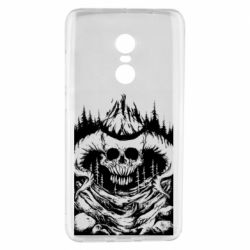 Чехол для Xiaomi Redmi Note 4 Skull with horns in the forest