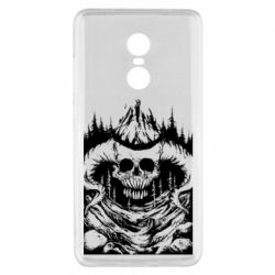 Чехол для Xiaomi Redmi Note 4x Skull with horns in the forest