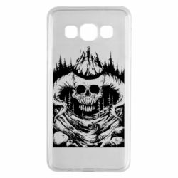 Чехол для Samsung A3 2015 Skull with horns in the forest