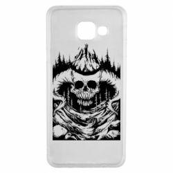 Чехол для Samsung A3 2016 Skull with horns in the forest
