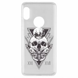 Чохол для Xiaomi Redmi Note 5 Skull with insect