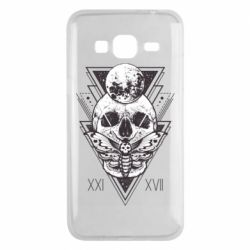 Чохол для Samsung J3 2016 Skull with insect
