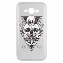 Чохол для Samsung J7 2015 Skull with insect